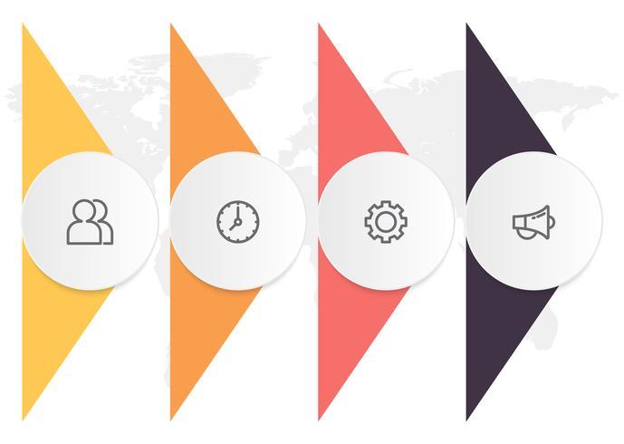 Infografik-Diagramm mit 4 Schritten, Optionen oder Prozessen. Vektorgeschäftsschablone für Darstellung. Visualisierung von Geschäftsdaten. vektor