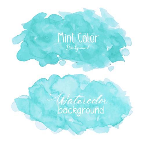 Mint abstrakt vattenfärg bakgrund. Akvarell element för kort. Vektor illustration.