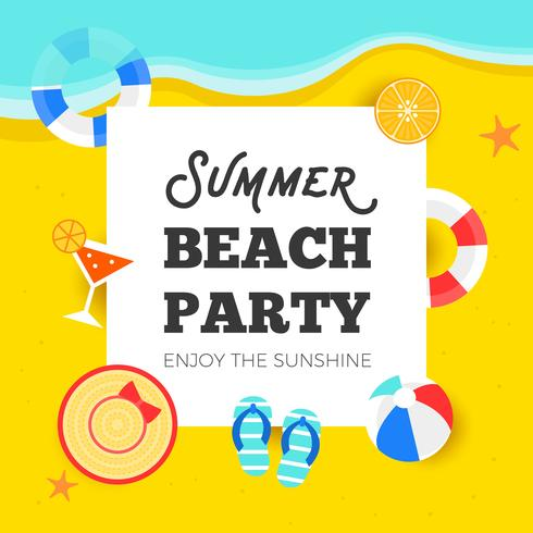 Sommartid, sommar strandfest vektor illustration
