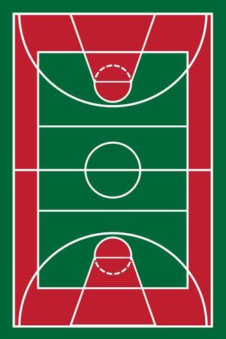 Basketballplatz Vektor-Illustration vektor