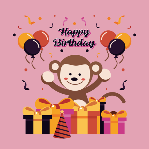 Grattis på födelsedagen Djur Vector