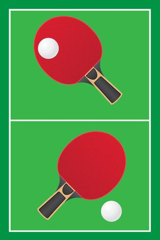 bordtennis ping pong vektor