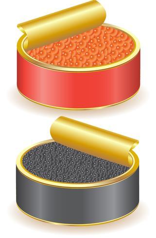 roter und schwarzer Kaviar vektor