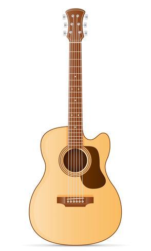 akustisk gitarr lager vektor illustration