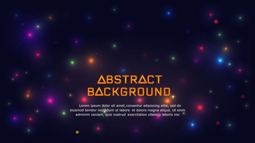 Abstrakt Glödande ljus bakgrund. vektor