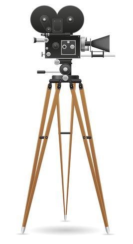 alte Filmkamera-Vektor-Illustration vektor