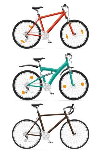 Set Icons Sport Fahrräder Vektor-Illustration vektor