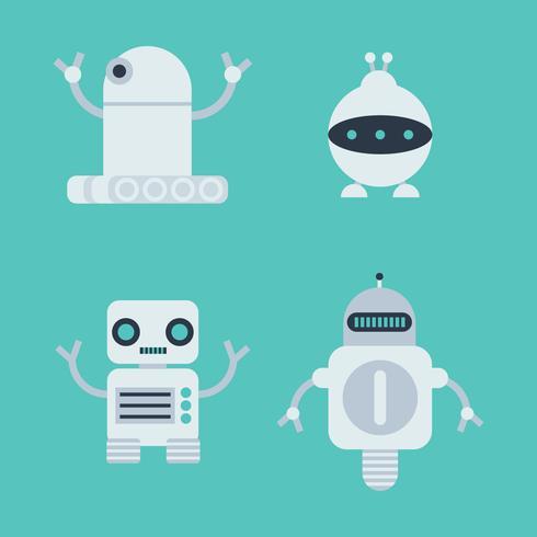 Set av robotar vektor