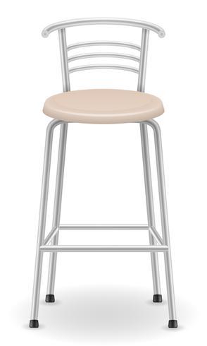 metallisk barstolstol pall vektor illustration