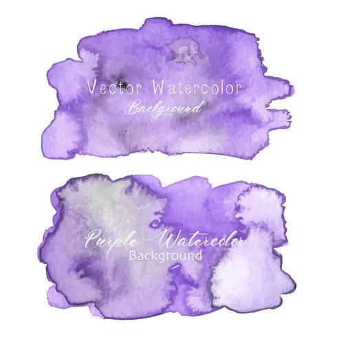 Lila abstrakte Aquarell Hintergrund. Aquarellelement für Karte. Vektor-illustration vektor