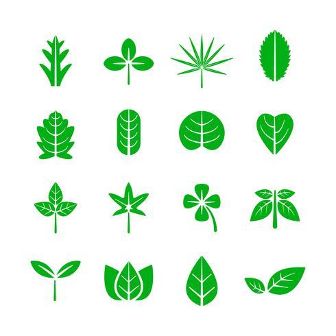 Bladikon. Natur och miljö koncept. Vektor illustration