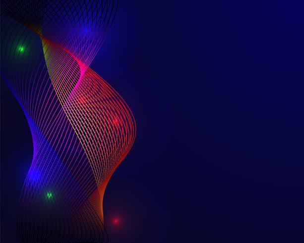 Färgrikt spektrum i blå bakgrund. Abstrakt bakgrundskoncept. Presentationens element. Vektor illustration