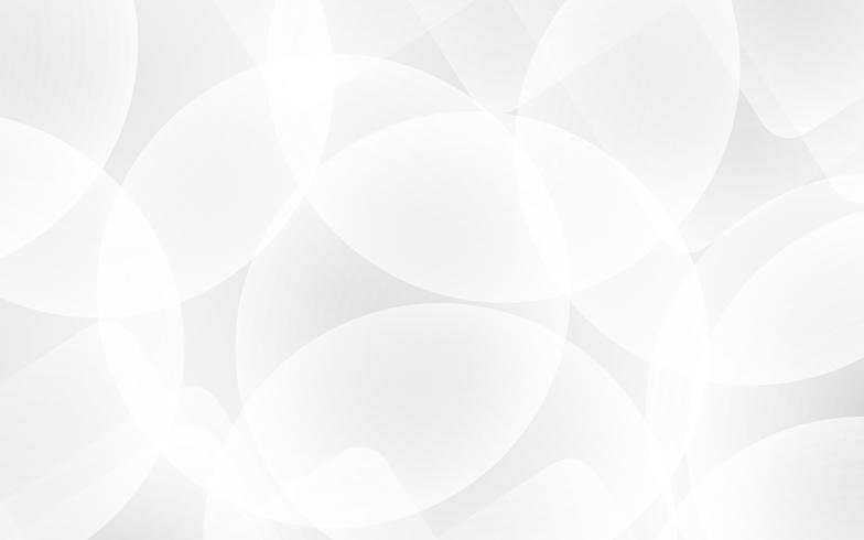 Weißer abstrakter Hintergrundvektor. Grau abstrakt. Hintergrund des modernen Designs für Berichts- und Projektpräsentationsschablone. Vektor-Illustration Grafik. Futuristisches und Kreiskurvenformkonzept. vektor