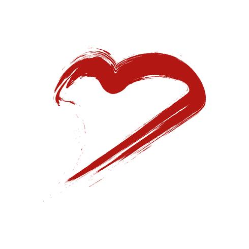 Herzform wie Frauenlippe. Valentinstag Zeichen und Symbol Konzept. vektor