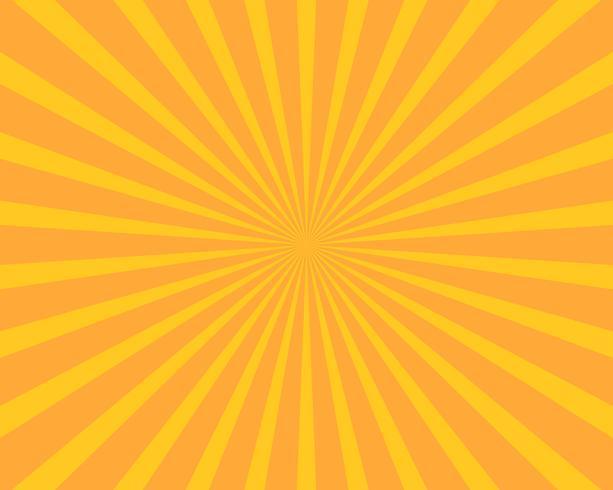 Gelbe Sonne sprengte Illustrationsvektorhintergrund. Abstrakt und Wallpaper-Konzept. vektor