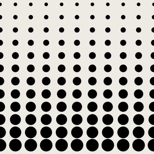 Sömlös mönster bakgrund. Modernt abstrakt och klassiskt antikt koncept. Geometrisk kreativ design snyggt tema. Illustration vektor. Svartvit färg. Cirkulär punkt halva tonen form vektor