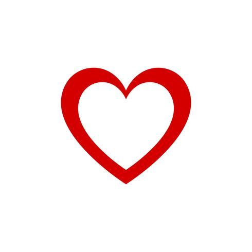 Röd hjärta design grafisk vektorikonen. Alla hjärtans dag och älsklingskoncept. Double Heart-tema vektor