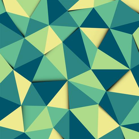 Grön och gul polygon mosaik mönster bakgrund vektor