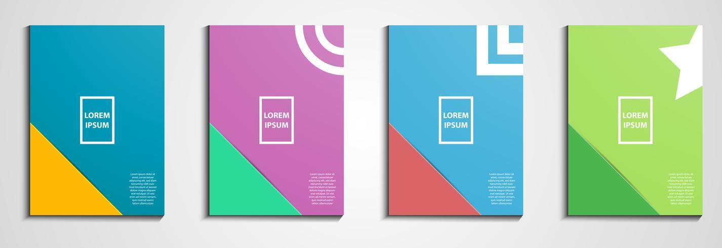 Årsrapporten omfattar design. Notebook cover. Minimal geometrisk design. Eps10 illustration vektor. Pastellfärgton. Affärs- och revisionskoncept. vektor