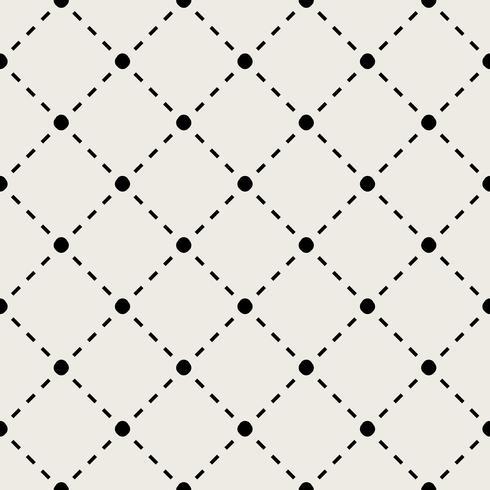 Sömlös mönster bakgrund. Modernt abstrakt och klassiskt antikt koncept. Geometrisk kreativ design snyggt tema. Illustration vektor. Svartvit färg. Linjeanslutningsteknik och social vektor