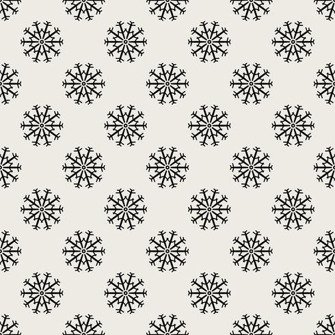 Nahtlose Muster Hintergrund. Abstraktes und klassisches Konzept. Stilvolles Thema des geometrischen kreativen Designs. Abbildung Vektor. Schwarzweiss-Farbe. Schneeflockeneis für Weihnachtstag vektor