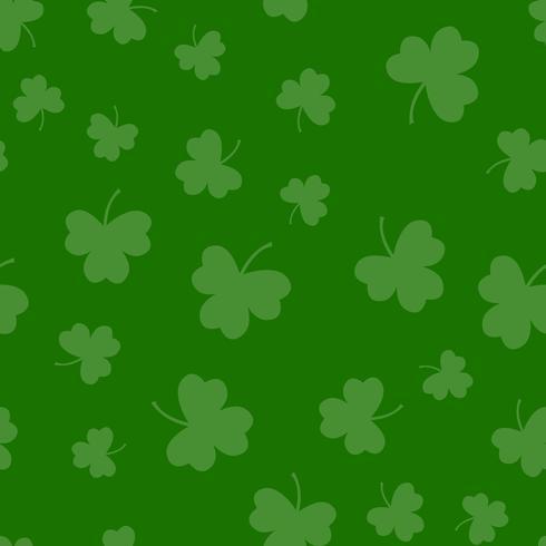 Seamless grön shamrockklöver bladmönster bakgrund. Sankt Patriks dag. Abstrakt och modernt begrepp. Geometrisk kreativ design snyggt tema. Illustration vektor. Papperspaket och tapeter vektor