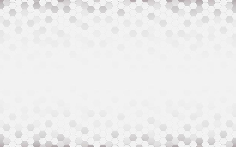 Weißer abstrakter Hintergrund mit Hexagon. Grau abstrakt. Futuristisches Technologie- und Beschaffenheitskonzept. Leerzeichen und kopieren Sie Platz für Text. vektor