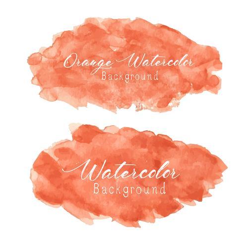 Orange abstrakter Aquarellhintergrund. Vektor-illustration vektor