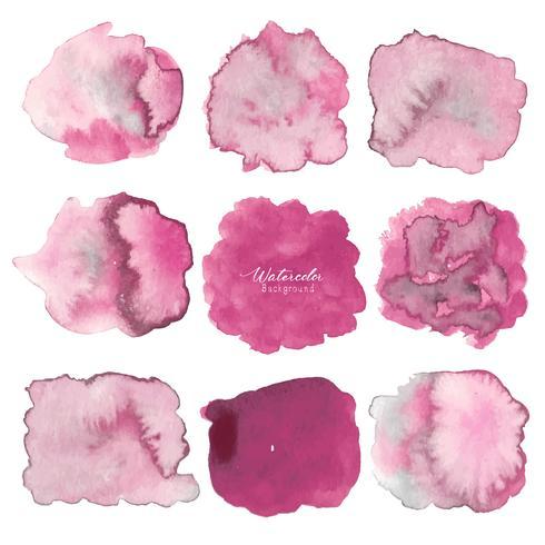 Rosa abstrakter Aquarellhintergrund. Aquarellelement für Karte. Vektor-illustration vektor