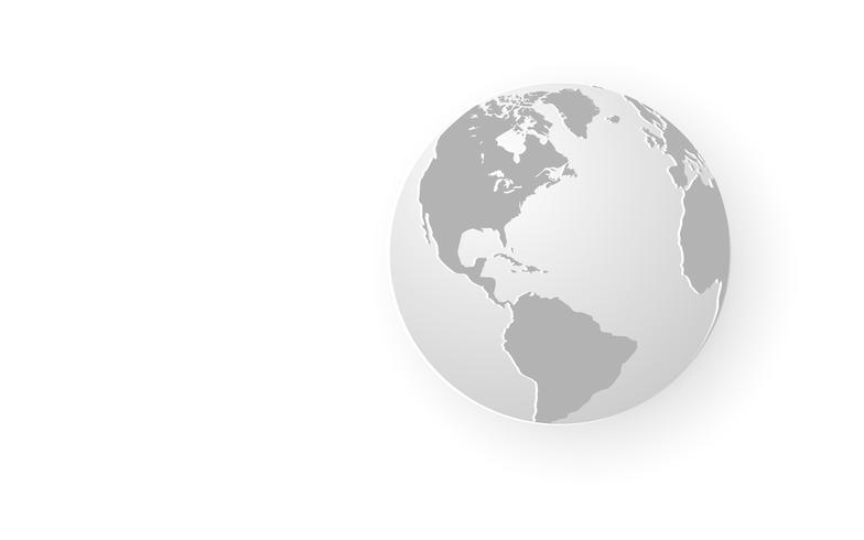 Weißer abstrakter Hintergrund kurven heraus Papierkunst. Grau abstrakt. Hintergrund des modernen Designs für Berichts- und Projektpräsentationsschablone. Vektor-Illustration Grafik. Business-Technologie-Verbindung global vektor