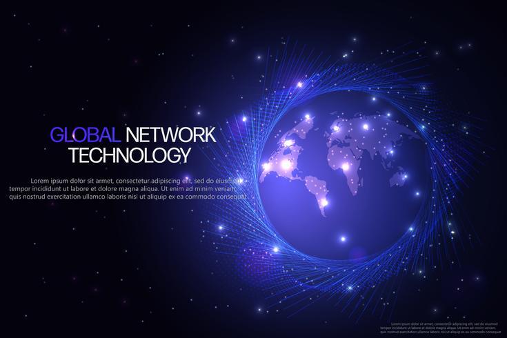 Abstrakter Technologiehintergrund. vektor