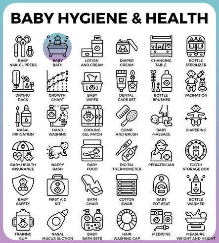 Barnhygien och hälsa vektor