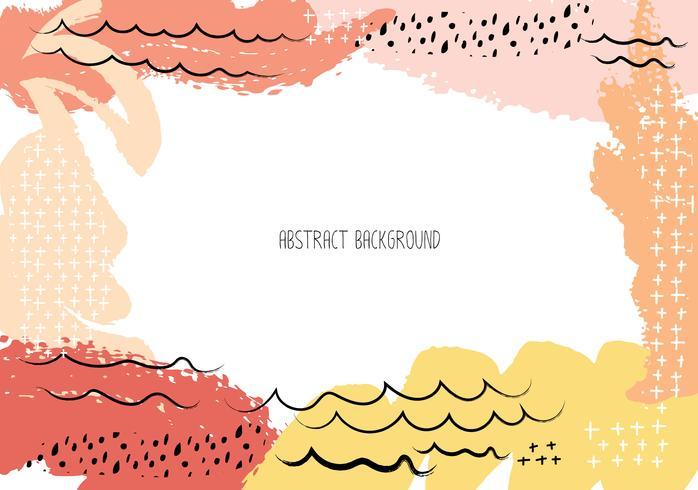 Künstlerische kreative Karten mit Bürstenanschlägen, abstrakter Bürstenanschlaghintergrund, Vektorillustration. vektor