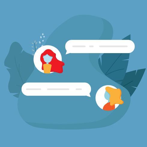 Chat-Konversationsnachricht vektor