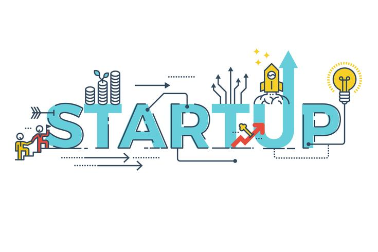business startup word design vektor