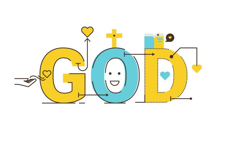 Gott Wort Design vektor