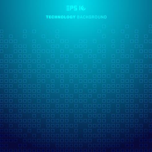 Abstrakta kvadrater mönster futuristiska överföringsdata på blå bakgrundsteknologi koncept vektor