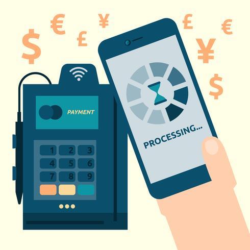 Mobil betalning vektor