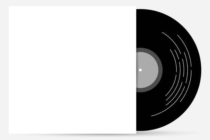 Vinyl-Cover verspotten vektor