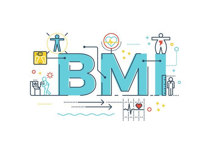 BMI: Body Mass Index-Wort vektor