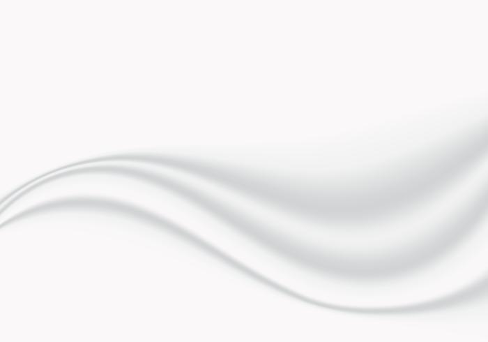 Glatte weiche Welle des abstrakten weißen Stoffes mit Kopienraumhintergrund und -beschaffenheit vektor