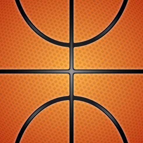 Realistische Basketball-Beschaffenheits-Illustration. vektor