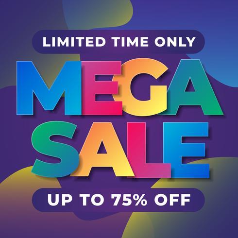 Begrenztes Angebot Mega Sale Banner Vorlage vektor