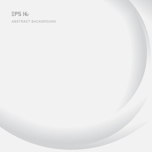 Glatter weißer Hintergrund der modernen Kurvenbeschaffenheit des abstrakten Elements mit Schatten- und Kopienraum vektor