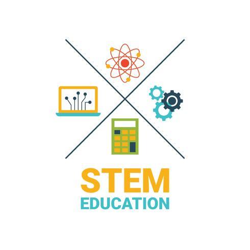 STEM Bildungskonzept vektor