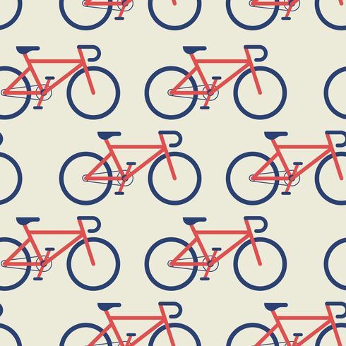 Fahrrad nahtlose Hintergrund vektor