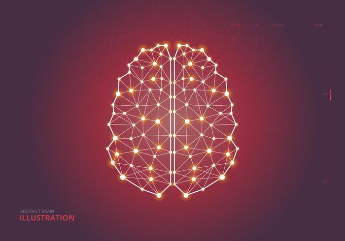 Mensch Brain Hemispheres Illustration vektor