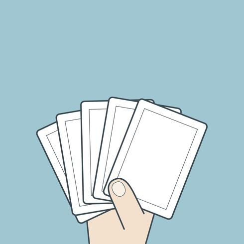 Hand, die Karte hält vektor