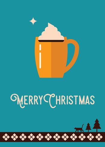 Weihnachtsgrußkarte vektor