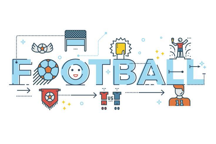 Fußball-Schriftzug vektor